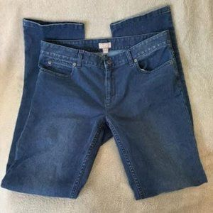 J Jill Slim Leg Brushed Stretchy Jeans Sz 6
